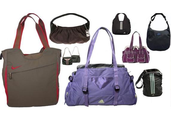 Modelos diversos de bolsas esporte. Diversos tamanhos e modelagens.