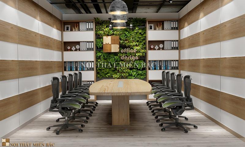 Thiết kế phòng họp với khu vườn đứng độc đáo