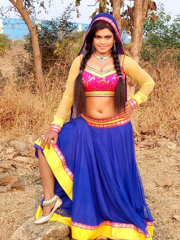 Nisha Dubey Shoot ON Set Rudra pics