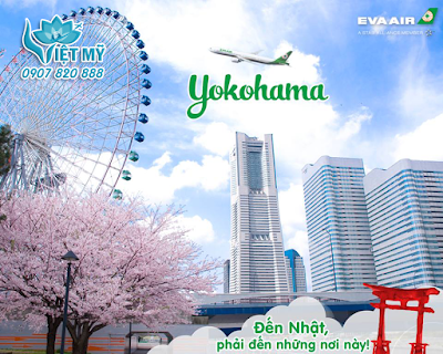 Vé máy bay đi Yokohama Nhật Bản hãng EVA Air