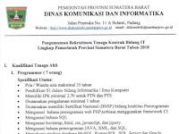 Pemprov Sumbar - Dinas Kominfo Provinsi Tutup 20 Maret 2018