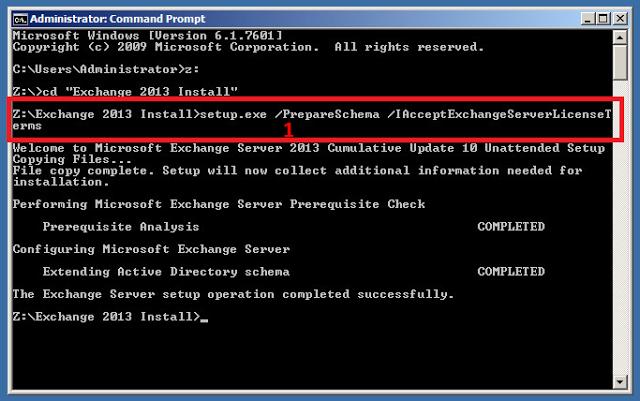 setup.exe /PrepareSchema /IAcceptExchangeServerLicenseTerms