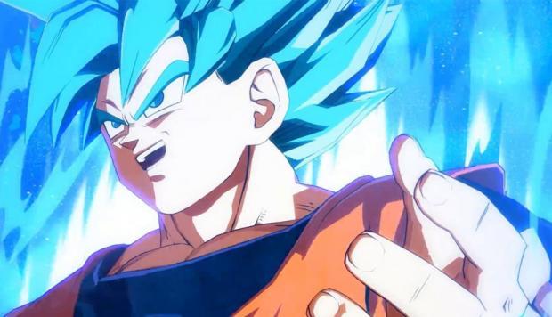 Goku y Vegeta en sus formas SSGSS en Dragon Ball FighterZ