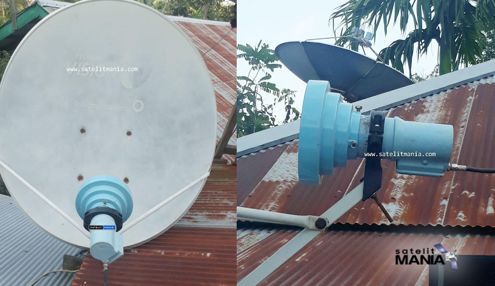 cara tracking thaicom 5 dengan dish telkomvision