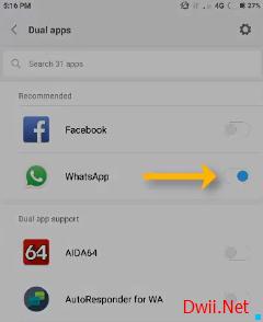 Aplikasi Ganda pada Xiaomi