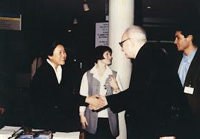 Avec la soeur du Dalaï Lama