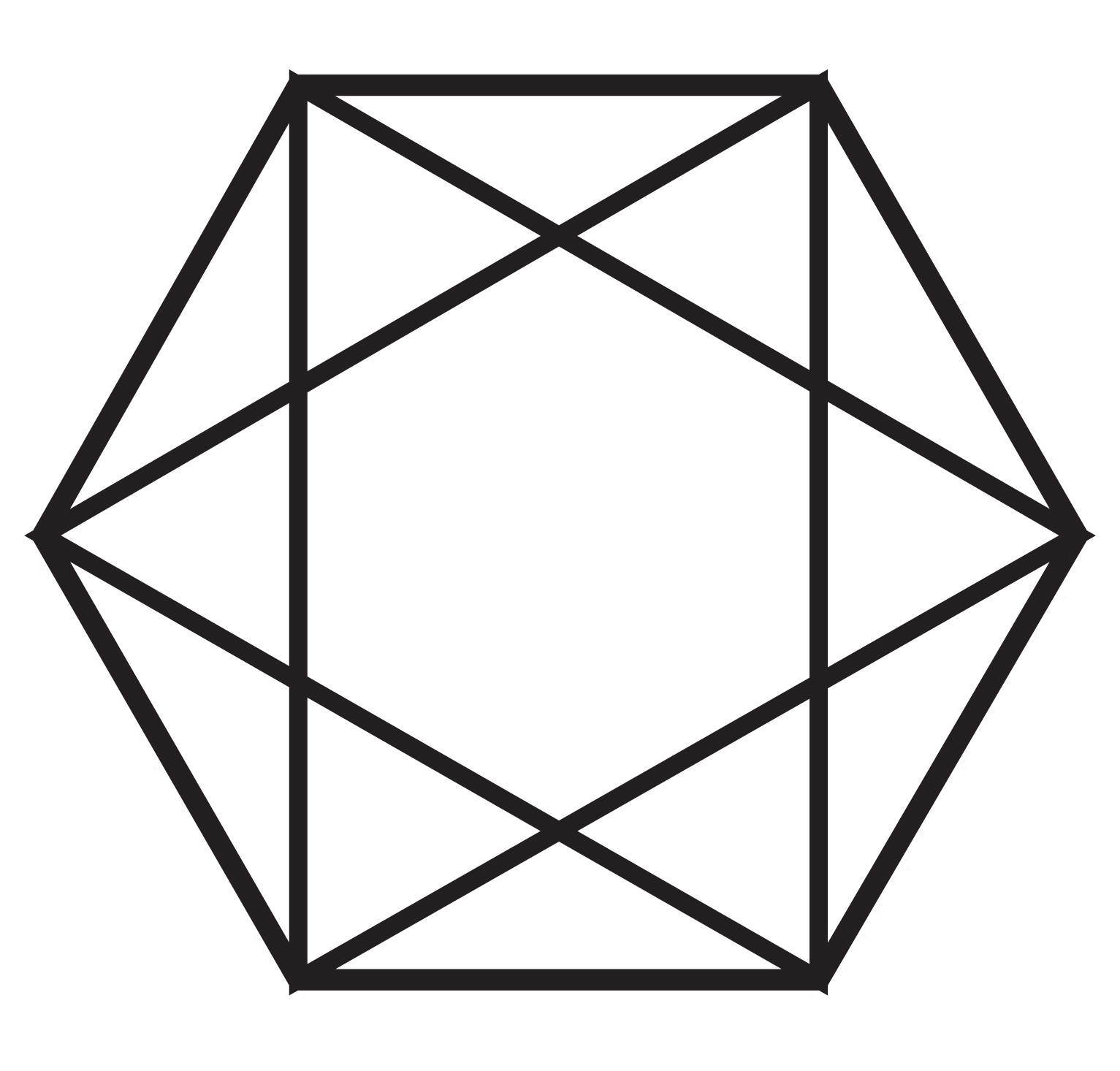 Iva Kenaz Hexagram And Pentagram