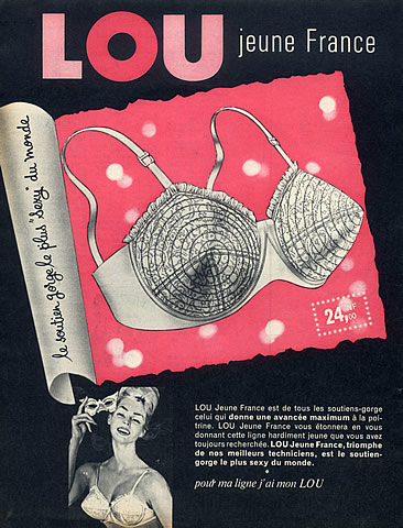 vintage french bullet bra advertisment