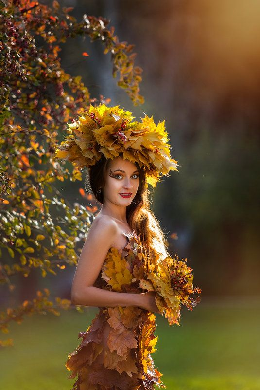 Женщина осень картинки красивые