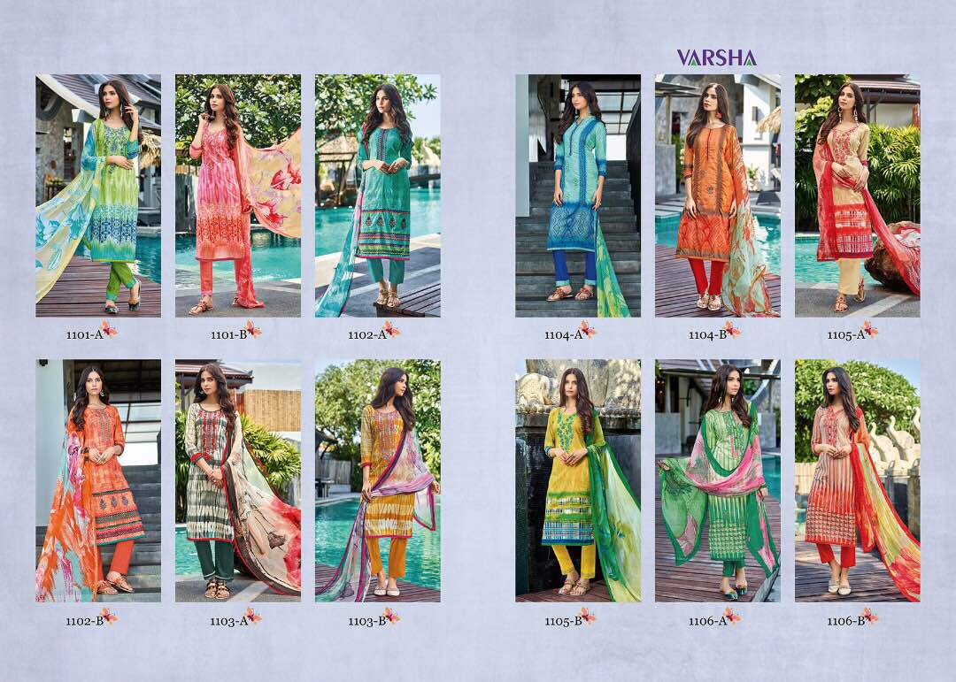 SAANJH-New Arrival Pure Cotton Dress Material