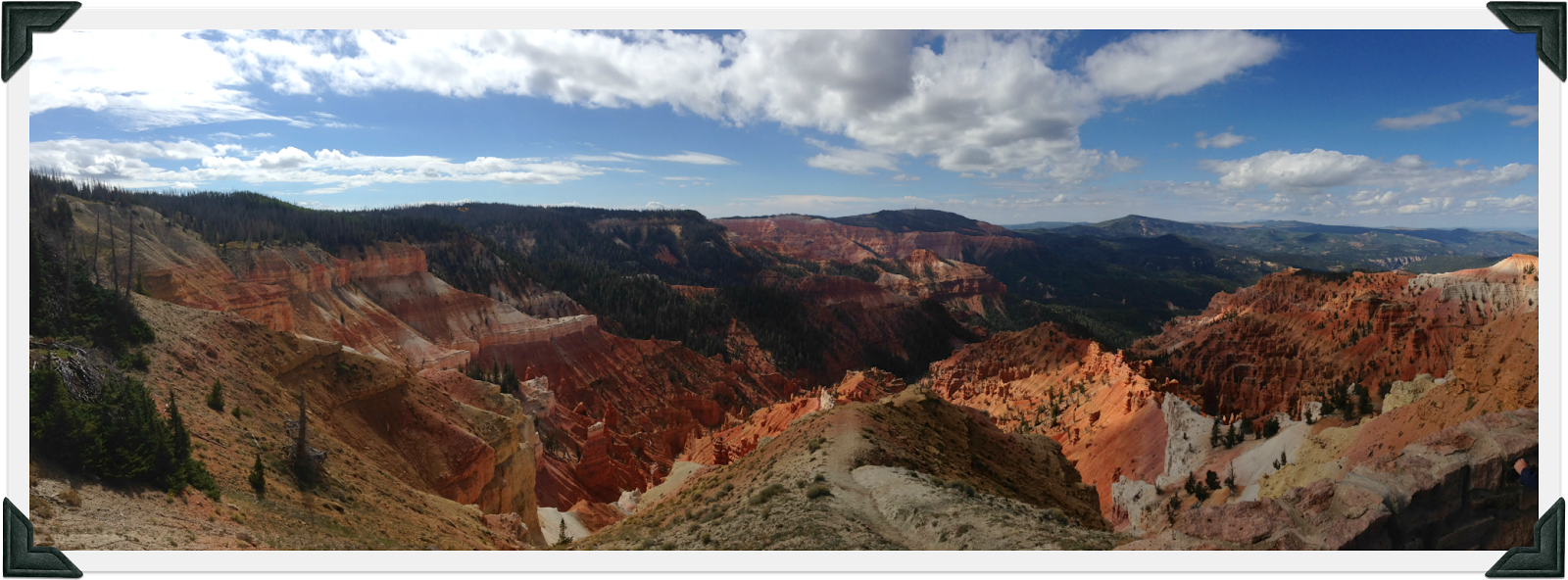 Scenic Overlook at Cedar Breaks Utah