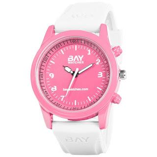 reloj de moda rosa y blanco