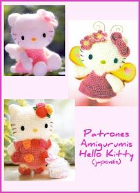 Patrón Amigurumi Hello Kitty Caperucita Roja | 280x203