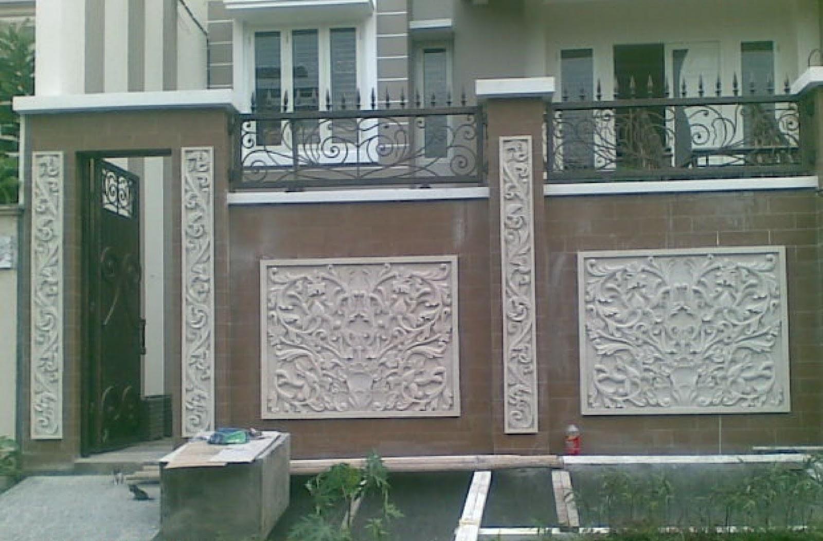 Desain Model Pagar Tembok Rumah  Gambar Rumah Idaman