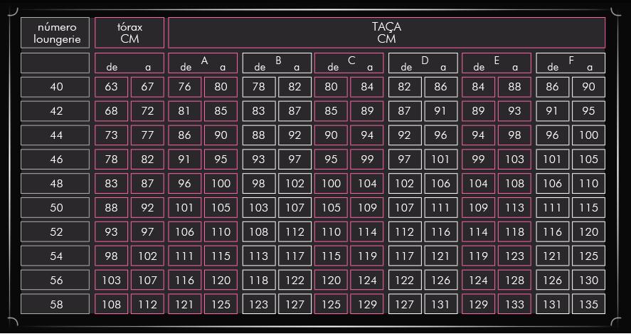 6638f92fa Tabela da Loungerie