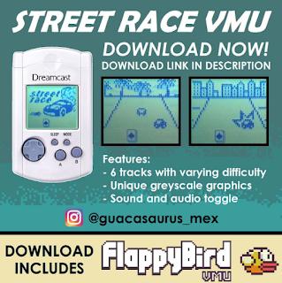 Guacasaurus, ses jeux VMU, les différentes news Dd