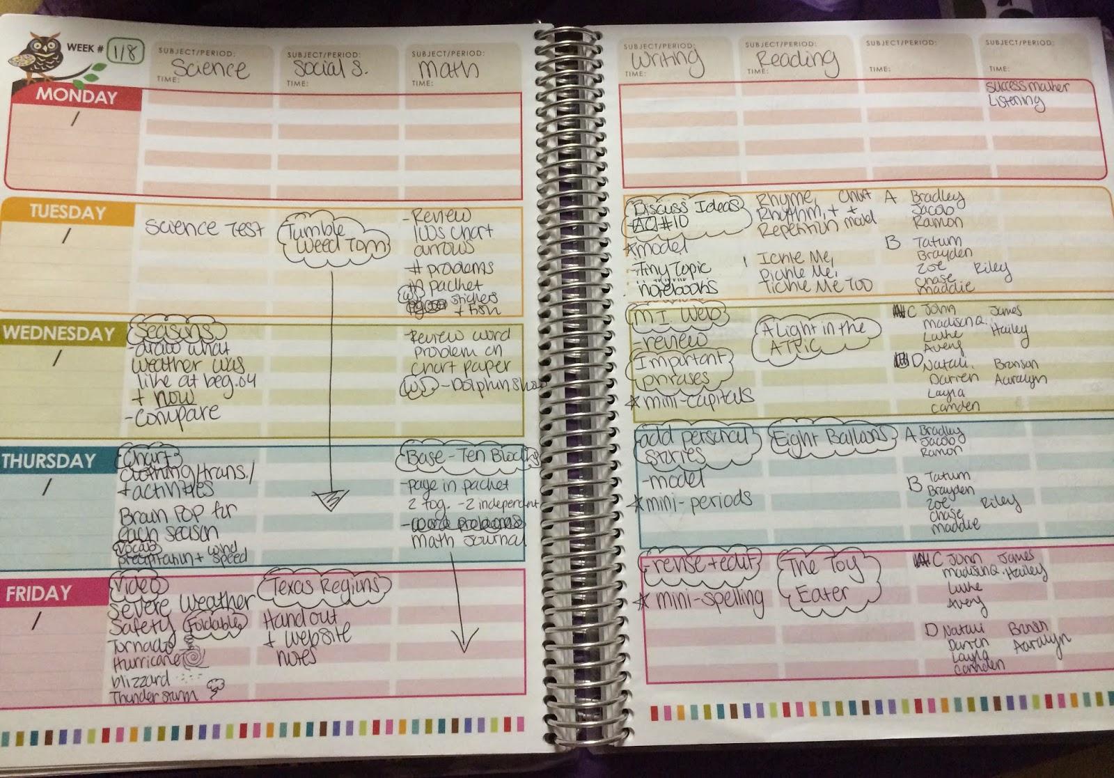 Spectacular 2nd Grade: Erin Condren Teacher Planner Review ...