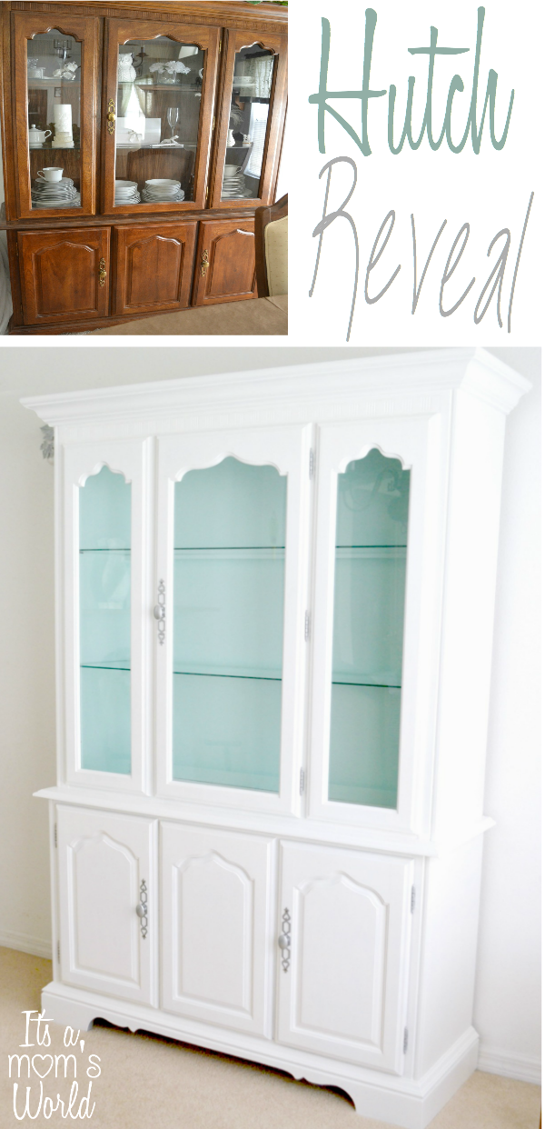 hutch dining room | It's A Mom's World: Dining Room Hutch Makeover Reveal