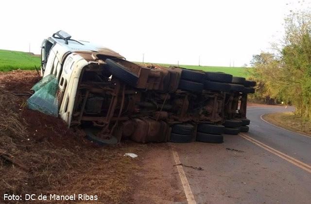 Manoel Ribas: Mais um acidente registrado na PR-466