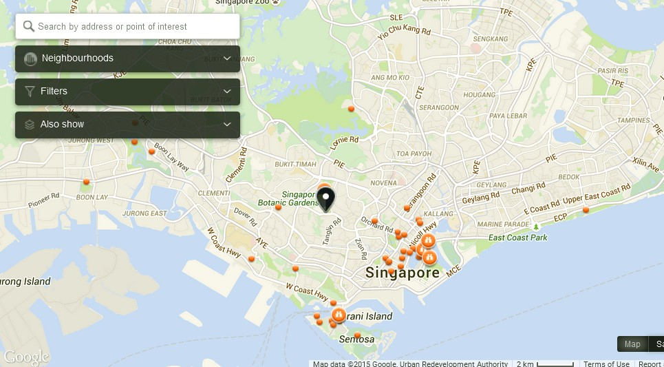 Istana Woodneuk Singapore Map - Tourist Attractions in