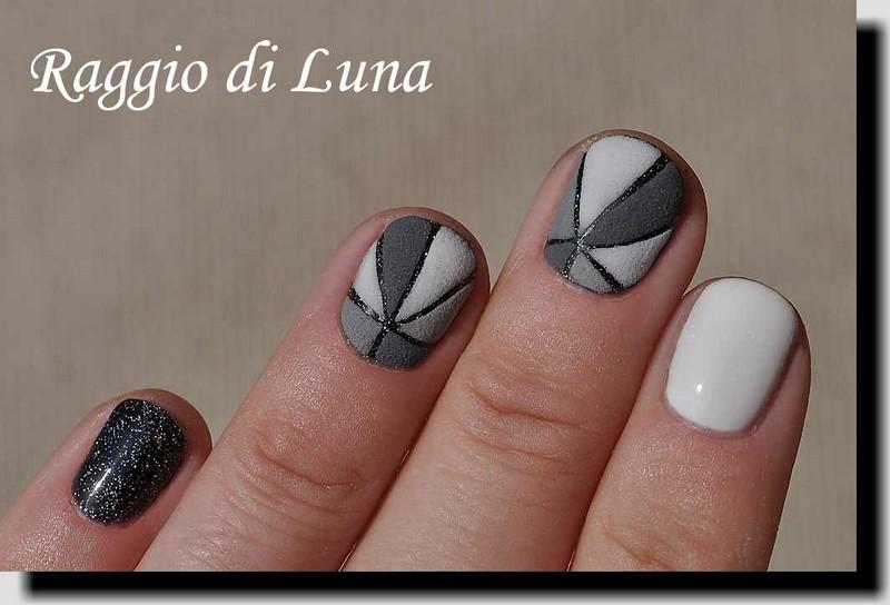 Raggio di luna nails uv gel manicure with free hand nail art bp uv gel top coat polish transparent acrylic powder prinsesfo Choice Image