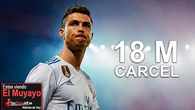 Cristiano Ronaldo con dos años de Prisión y pagar 18 millones a Hacienda