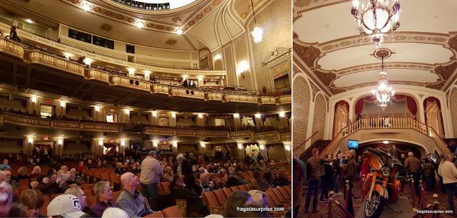 O interior do Orpheum Theater, em Memphis