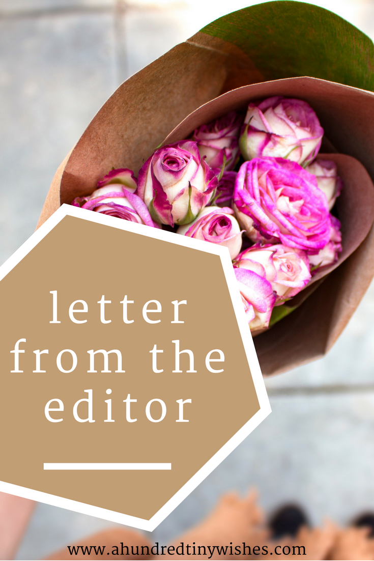 Letter from the editor | November
