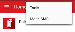 Navigasi kanan atas unitedtronik untuk set mode sms