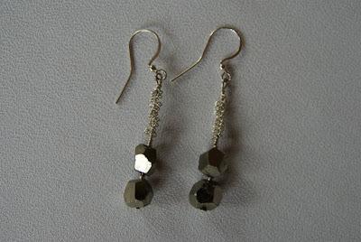 biżuteria handmade kolczyki z pirytem bransoletka z pirytem netstylistka blog biżuteryjny