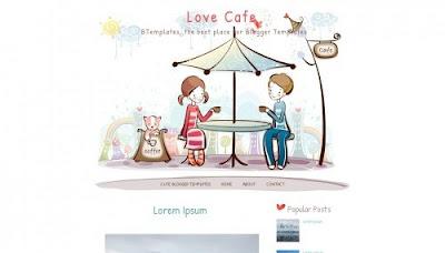 Love Cafe Blogger Templates