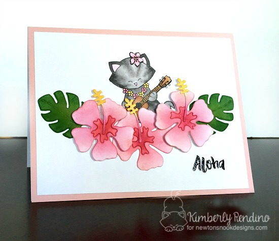 newton's nook designs   kimpletekreativity.blogspot.com   tropical   hibiscus   aloha   clear stamps   handmade card   cardmaking   papercraft