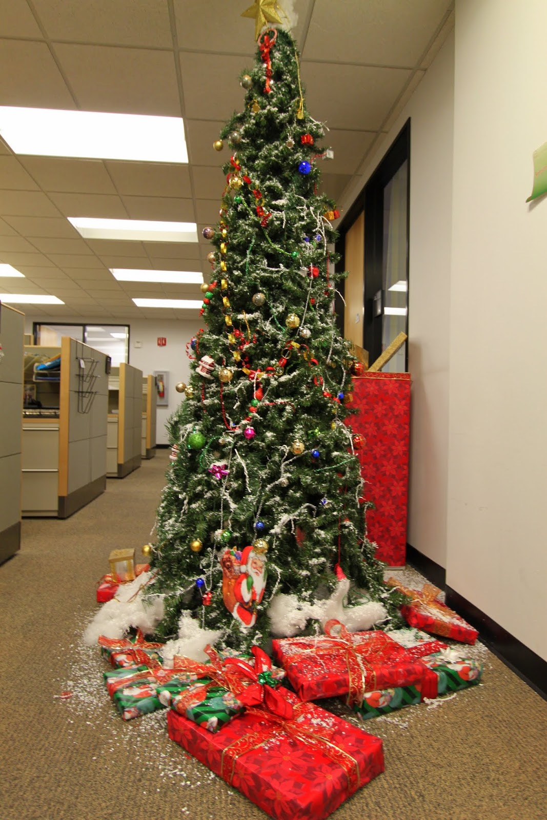 the office holiday pole decorating contest | mid-century ...