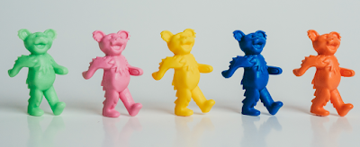Grateful Dead Dancing Bears Keshi Mini Figures by Killer Bootlegs