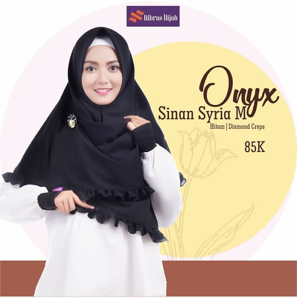 Jilbab Segi Empat Instant Onyx Cantik Murah Diamond Crepe Baju