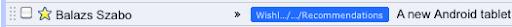Google Mail Label gekürzt