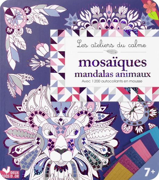 Mosaïques mandalas animaux - Cinzia Sileo - Deux Coqs d'Or