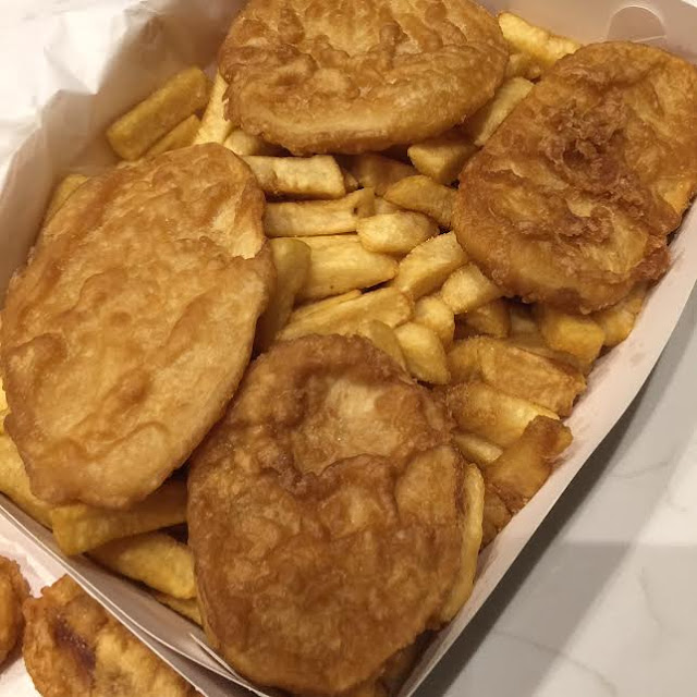 potato cakes;  chips;  fish and chips;  hip fish;  surrey hills