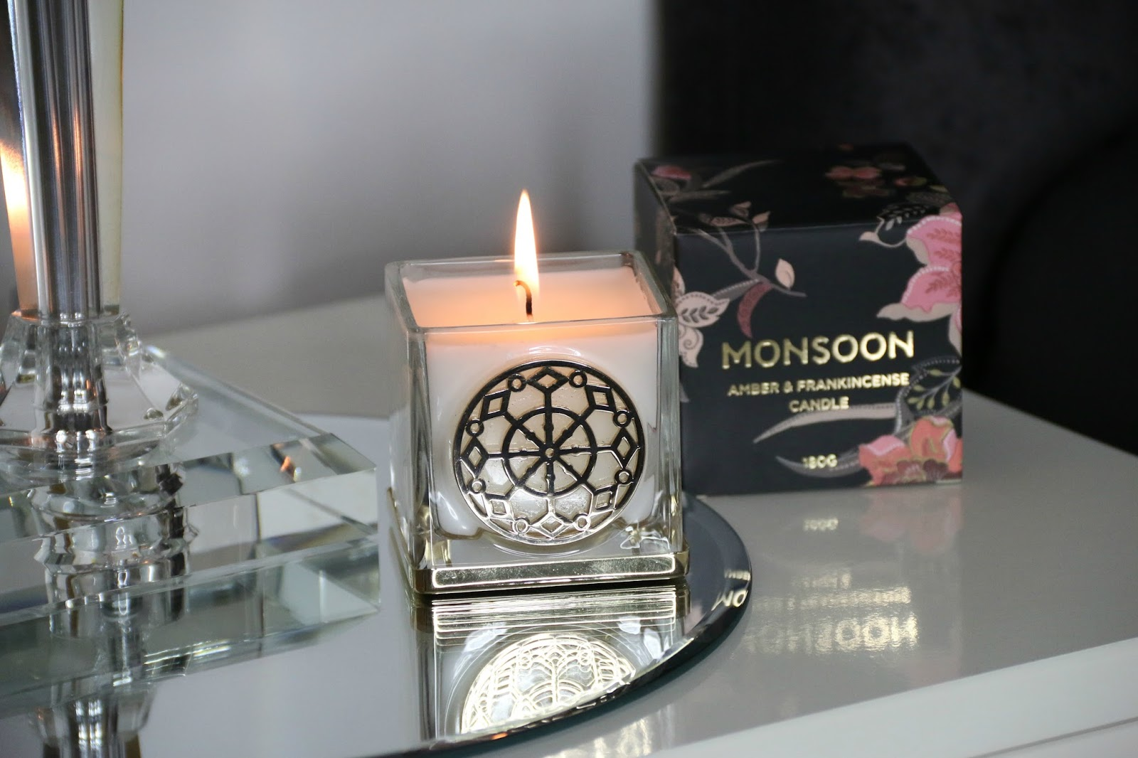 Monsoon Amber and Frankincense Candle and Reed Diffuser Home Fragrance Review