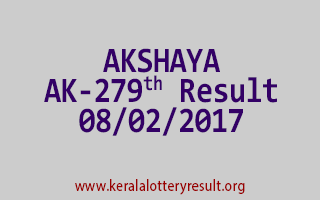 AKSHAYA AK 279 Lottery Results 08-02-2017