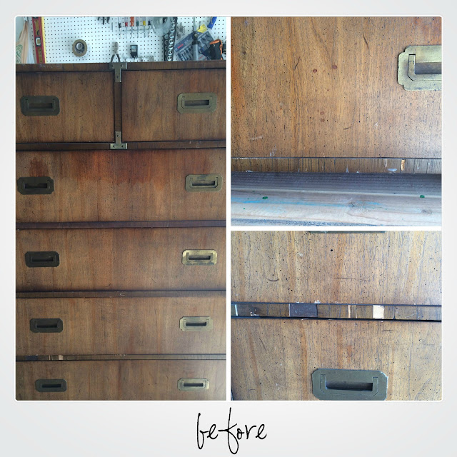 campaign dresser, highboy, how to refinish campaign furniture, campaign dresser before