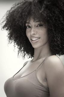 kinky afro curls