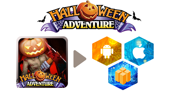 Halloween Adventure.Halloween Adventure Template Buildbox All Assets Free Admob Integrated