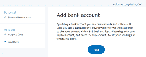 Add Your Bank Account With Your PayPal Account