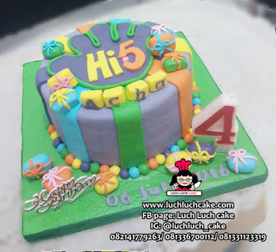 Kue Ulang Tahun Fondant Tema Hi-5