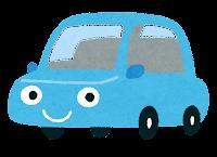 車のキャラクターのイラスト(水色)