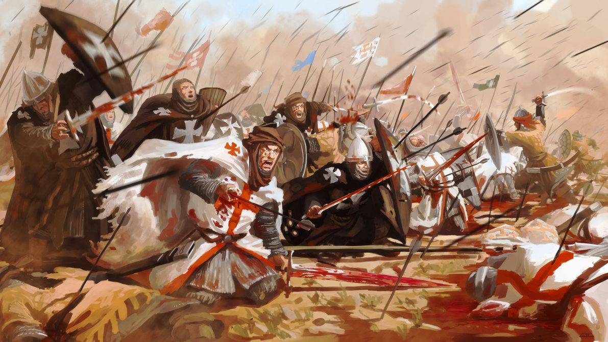 Kekelahan pasukan CruHattinsader di PErang