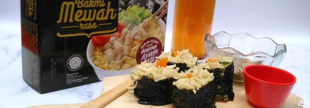 Kreasi Resep Bakmi Mewah Sushi Rolls untuk Sajian Wah di Rumah ala Restoran