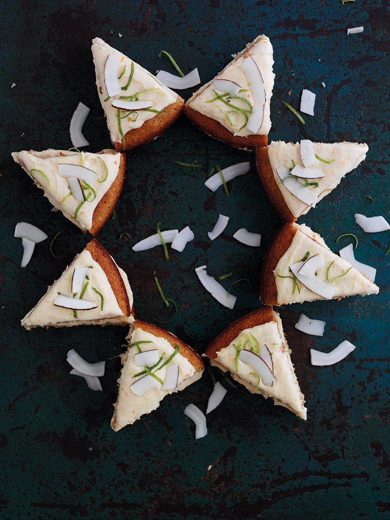 Persimon, Lime And Coconut Star Cake