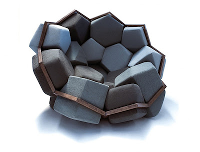 Divertido sillón modular.